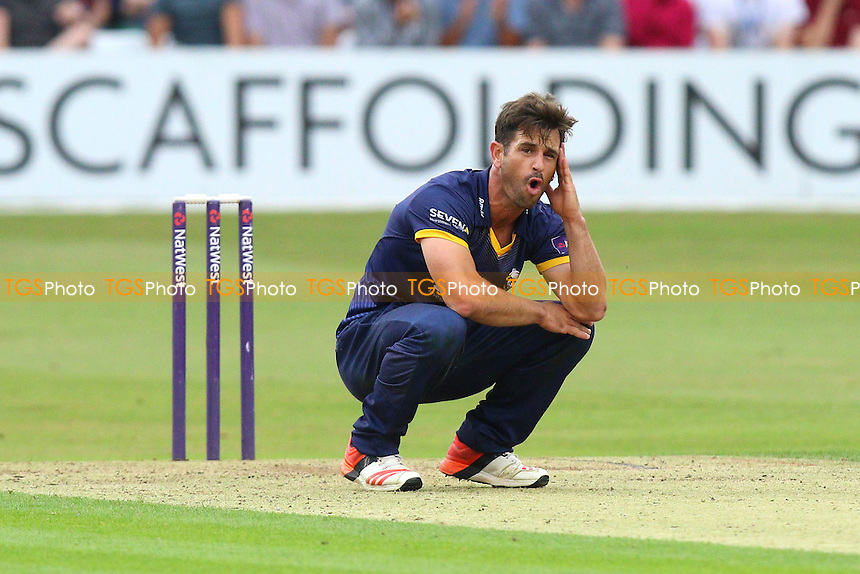 Frustration for Ryan ten Doeschate of Essex during Essex Eagles vs Glamorgan, NatWest T20 Blast Cricket at the Essex County Ground on 29th July 2016