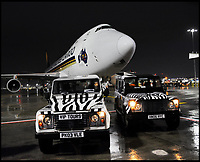 BNPS.co.uk (01202 558833)<br /> Pic: Longleat/BNPS<br /> <br /> International Rescue - The specialy chartered jet arrives at Heathrow last night with it's cuddly VIP's...<br /> <br /> One of Australia's most iconic but increasingly threatened species has received a boost as a group of koalas have arrived in Britain to start a new European breeding group.<br /> <br /> The five southern koalas, four females and one male, are part of a ground-breaking initiative to start a new breeding programme for Europe, a sort of back-up population away from the threats the species face in their home country, such as bushfires and disease.<br /> <br /> The cuddly marsupials made the epic journey from Adelaide in Australia to Longleat in Wiltshire, which will be the only place in Europe visitors can see the bigger of the country's two subspecies.<br /> <br /> Longleat has created a special new enclosure for them, including developing a 4,000-tree eucalyptus plantation to keep the koalas well-fed.<br /> <br /> Both the South Australian Government and Cleland Wildlife Park have very strict rules on allowing the animals out of the country.