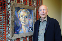 NWA Democrat-Gazette/FLIP PUTTHOFF <br /> Frank Bailey, attorney, is also an art collector. Bailey worked for     Nov. 11, 2015      an artist when he was in his 20s. Here he stands by a portrait the artist did of Bailey when he was 27.