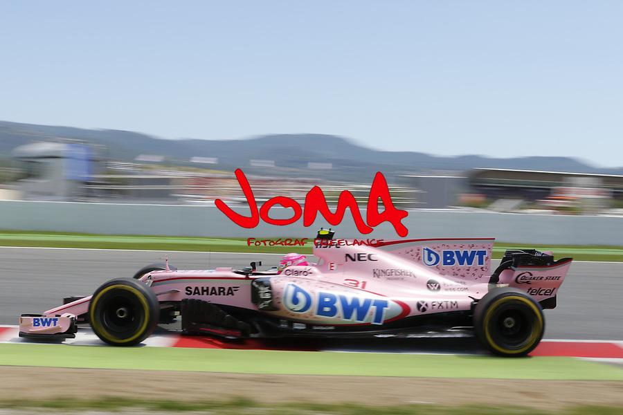 Esteban Ocon (FRA) Force India at  Formula 1, Spanish Grand Prix, Barcelona.