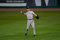 Grand Junction Rockies right fielder Brenton Doyle (29) during a Pioneer League game against the Billings Mustangs at Dehler Park on August 14, 2019 in Billings, Montana. Grand Junction defeated Billings 8-5. (Zachary Lucy/Four Seam Images)
