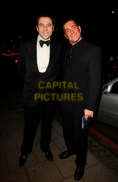 DAVID WALLIAMS & DALE WINTON.Attending Bruce Forsythe's 80th Birthday Party, at The Dorchester Hotel, London, England, February 22nd 2008. .full length.CAP/CAN.?Can Nguyen/Capital Pictures