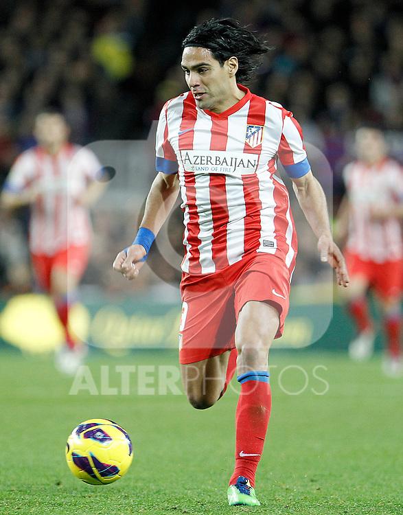 Atletico de Madrid's Radamel Falcao during La Liga match.December 16,2012. (ALTERPHOTOS/Acero)