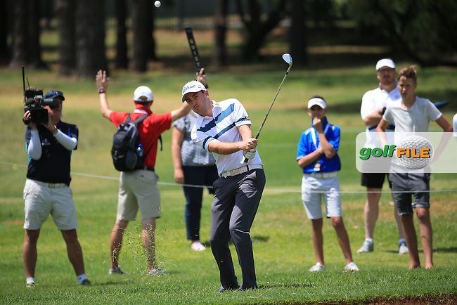 Daniel Brooks (ENG) chips onto the 4th during Round Three of the 2016 BMW SA Open hosted by City of Ekurhuleni, played at the Glendower Golf Club, Gauteng, Johannesburg, South Africa.  09/01/2016. Picture: Golffile | David Lloyd<br /> <br /> All photos usage must carry mandatory copyright credit (&copy; Golffile | David Lloyd)