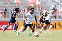 Cary, North Carolina  - Saturday July 01, 2017: Maya Hayes during a regular season National Women's Soccer League (NWSL) match between the North Carolina Courage and the Sky Blue FC at Sahlen's Stadium at WakeMed Soccer Park. Sky Blue FC won the game 1-0.