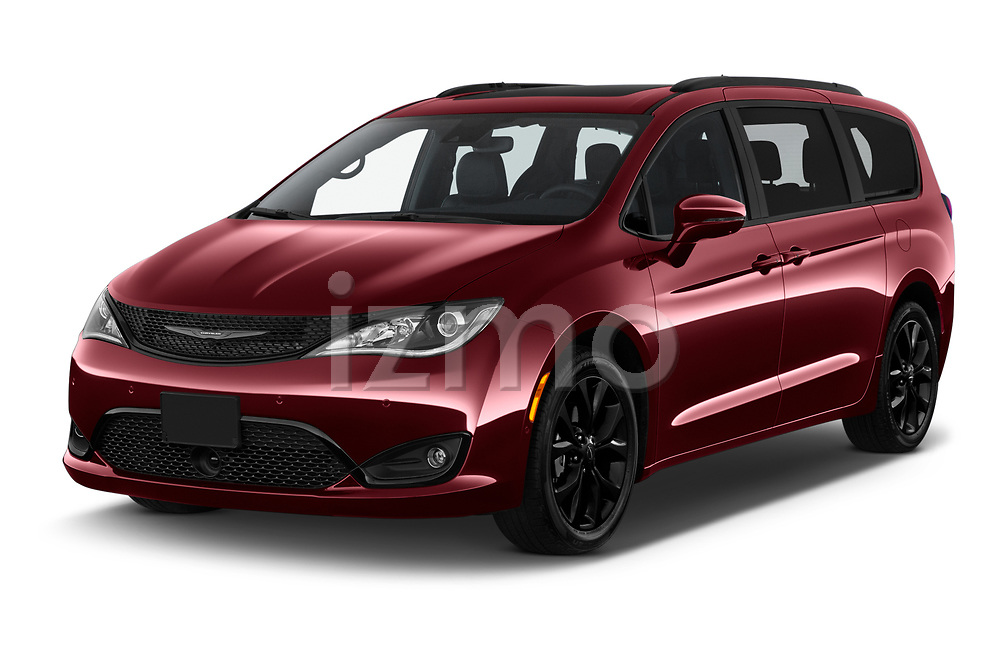 2020 Chrysler Pacifica Limited 5 Door Minivan Angular Front automotive stock photos of front three quarter view