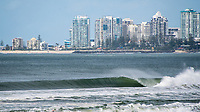 Coolangatta Queensland, Australia. (Wednesday, June 21, 2017) - A strong southerly wind over the past few days has driven up the swell on the Gold Coast with the southern points of Snapper Rocks, Kirra, Currumbin Alley and Burleigh all having clean waves. Photo: joliphotos