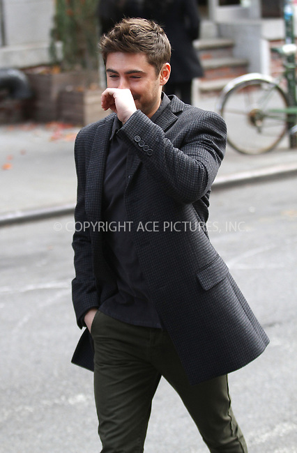 WWW.ACEPIXS.COM....December 20 2012, New York City....Actor Zac Efron on the set of the new movie 'Are We Officially Dating Yet?' on December 20 2012 in New York City......By Line: Zelig Shaul/ACE Pictures......ACE Pictures, Inc...tel: 646 769 0430..Email: info@acepixs.com..www.acepixs.com