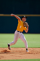 Trevor Haskins (6) of Valley Christian Schools in San Jose, CA during the Perfect Game National Showcase at Hoover Metropolitan Stadium on June 17, 2020 in Hoover, Alabama. (Mike Janes/Four Seam Images)