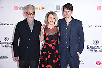 Trevor Eve, Alice Eve and director, Jack Eve<br /> arriving for the World premiere of &quot;Bees Make Honey&quot; at the Vue West End, Leicester Square, London<br /> <br /> <br /> &copy;Ash Knotek  D3314  23/09/2017