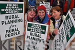 PROTEST PLANNING : Irish Rural Dwellers Assoc. protesting out side the Kerry County Council offices about rural planning on Monday morning L:r Mary Wilson Dingle, Ruth Bowler Castlegregory and Bernie Sweeney Beaufort.    Copyright Kerry's Eye 2008
