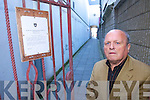 Local Councillor Tommy Foley has objected in writing to the proposal by the Town Council to close one of Tralee's oldest lanes - Bill Booleys Lane.   Copyright Kerry's Eye 2008