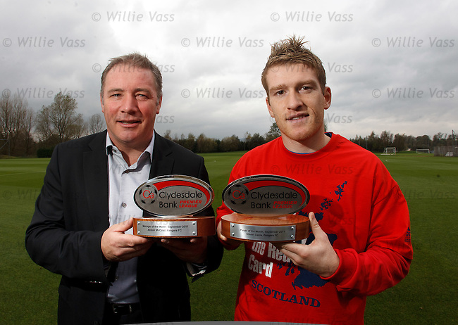 Ally McCoist and Steven Davis are the Clydesdale Bank Manager and Player of the Month for September