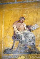Italy: Pompeii--A Pompeiian House, Fresco.