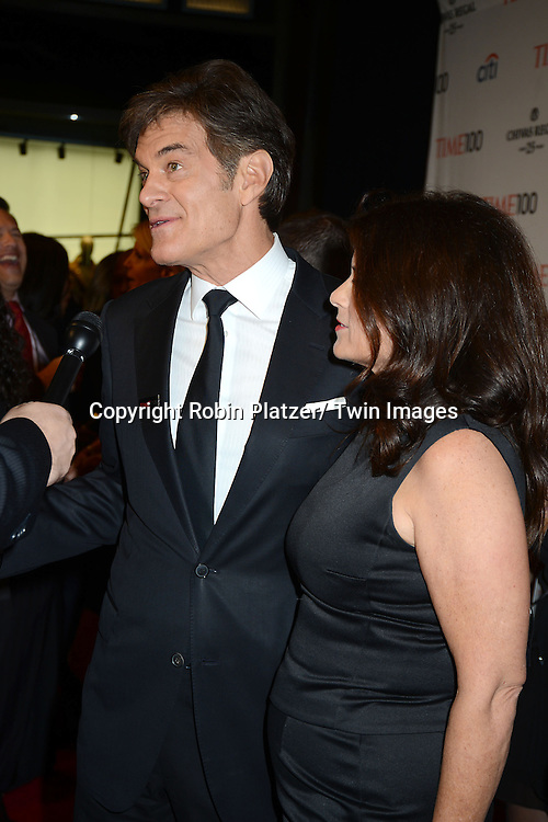 Dr Mehmet Oz  and wife Lisa Oz attend the TIME 100 Gala celebrating the 100 Most Influential People in the World on April 29, 2014 at Frederick P Rose Hall in New York City, NY, USA.