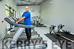Virginius Zavadskis on the thread mill in the new exercise room in the Listowel Community Centre