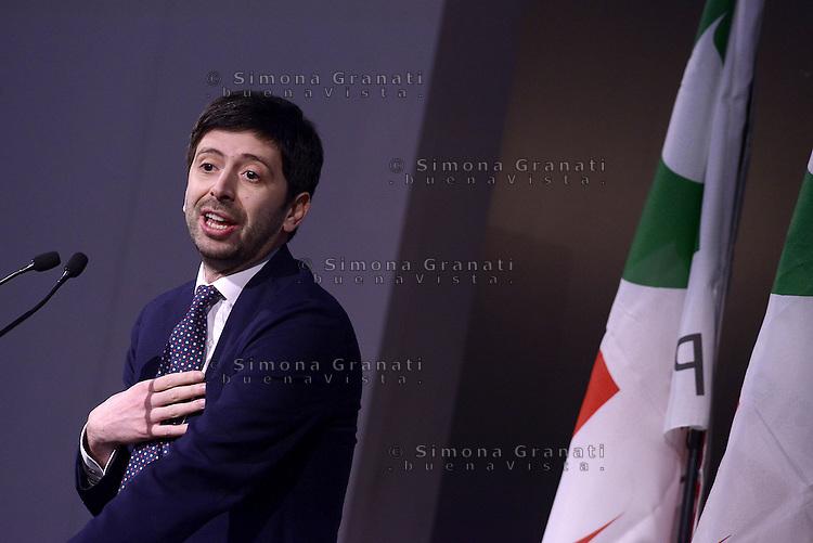 Roma, 21 Marzo 2015.<br /> Roberto Speranza.<br /> Assemblea della sinistra del Partito Democratico all'Acquario di Roma.<br /> A sinistra nel PD,. Per la Democrazia e il lavoro.