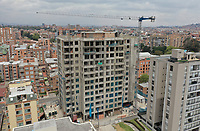 BOGOTA, COLOMBIA - MAY 12: A construction site is seen on May 12, 2020 in Bogota, Colombia. Colombian President Ivan Duque extended COVID-19 lockdown from May 11 to 25, including some exceptions by industry and territory. (Photo by VIEW press/Getty Images)