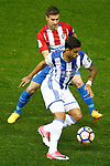Atletico de Madrid's Gabi Fernandez (t) and Real Sociedad's William Jose during La Liga match. April 4,2017. (ALTERPHOTOS/Acero)