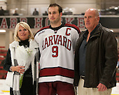 Peggy Biega, Danny Biega (Harvard - 9), Peter Biega - The Class of 2013 was celebrated following the final Harvard Crimson home game of the season on Saturday, March 2, 2013, at Bright Hockey Center in Cambridge, Massachusetts.