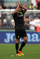 John Terry of Chelsea thanks away supporters after the Premier League match between Swansea City and Chelsea at The Liberty Stadium on September 11, 2016 in Swansea, Wales.