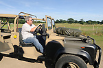 Peter Fitzpatrick driving an early 1990s Malaysian Army Land Rover prototype based on a 110 200tdi. Dunsfold Collection of Land Rovers Open Day 2011, Dunsfold, Surrey, UK. --- No releases available, but releases may not be necessary for certain uses. Automotive trademarks are the property of the trademark holder, authorization may be needed for some uses. --- Vehicle Information: Vehicle belongs to the Dunsfold Collection of Land Rovers: Chassis number SALLDHAF7KA930143, registration number L893 NHP, engine type 200 TDI, gearbox type 5-speed manual. --- Vehicle history: This interesting 110 is believed to have been a trials vehicle for the Malaysian Army in 1993. It had stood in compound for around eight years in the open before finding its way into the Collection. There is still a lot to be found out about the history and who built it. This would have been one of the first vehicles to have adopted the roll cage / gun mount system which is now standard on all SOV (Special Operation Vehicle) variants.