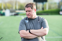 Boston, MA - Saturday April 29, 2017: Matt Beard, Head Coach prior to a regular season National Women's Soccer League (NWSL) match between the Boston Breakers and Seattle Reign FC at Jordan Field.