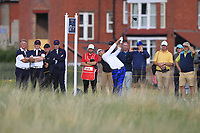 Andy Ogletree (USA) on the 17th tee during Day 2 Singles at the Walker Cup, Royal Liverpool Golf CLub, Hoylake, Cheshire, England. 08/09/2019.<br /> Picture Thos Caffrey / Golffile.ie<br /> <br /> All photo usage must carry mandatory copyright credit (© Golffile | Thos Caffrey)