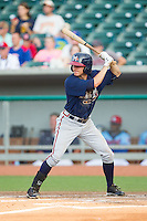 Kyle Wren (14) of the Mississippi Braves at bat against the Tennessee Smokies at Smokies Park on July 22, 2014 in Kodak, Tennessee.  The Smokies defeated the Braves 8-7 in 10 innings. (Brian Westerholt/Four Seam Images)