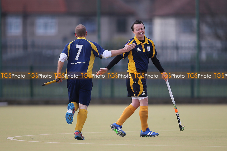 Romford score their frist goal and celebrate during Romford HC vs Harlow HC, East Region League Field Hockey at the Robert Clack Leisure Centre on 3rd December 2016