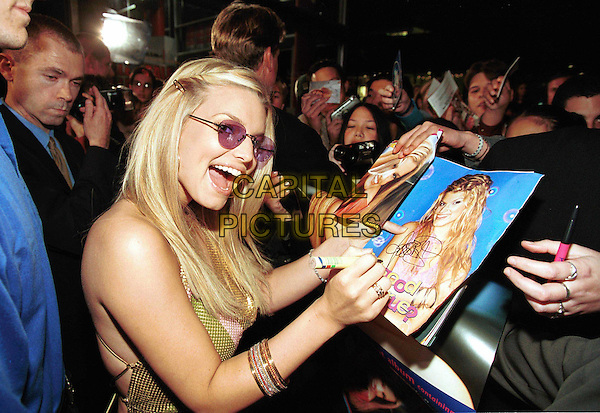 JESSICA SIMPSON..Ref: IJ(CD)..sunglasses, signing autographs, press, crowd, paparazzi, american singer, half length, half-length, fans, sunglasses, shades..www.capitalpictures.com..sales@capitalpictures.com..©Capital Pictures