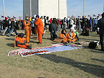 Protestors voice their opposition to the U.S. detention center at Guantanamo Bay as they attend the inauguration of US President Barack Obama, Tuesday, Jan. 20, 2009, in Washington, D.C. (Tricia Buchhorn/pressphotointl.com)