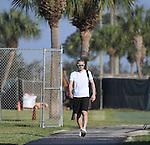 Ichiro Suzuki (Marlins),<br /> FEBRUARY 17, 2017 - MLB :<br /> Miami Marlins spring training baseball camp in Jupiter, Florida, United States. (Photo by AFLO)