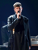 James Blake performs a medley at the 61st annual Grammy Awards on Sunday, Feb. 10, 2019, in Los Angeles. (Photo by Matt Sayles/Invision/AP)