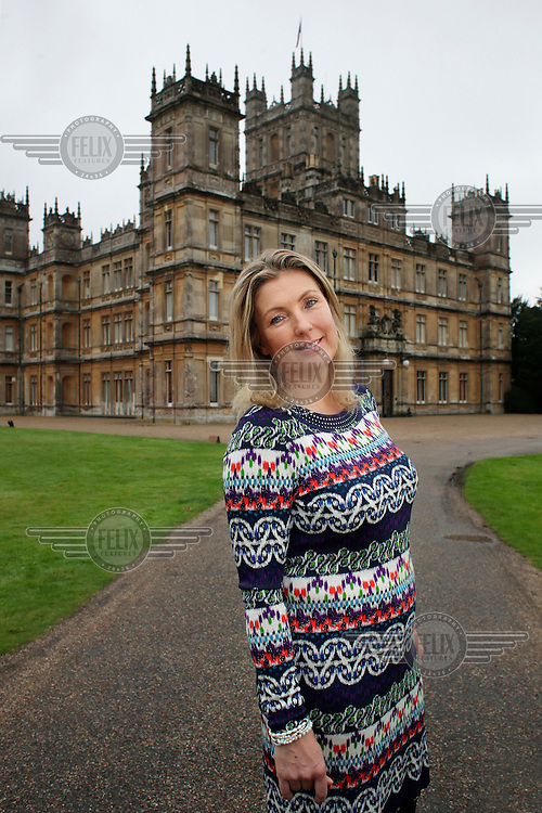 Lady Carnarvon at Highclere Castle near Newbury.