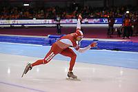 SCHAATSEN: HEERENVEEN: IJsstadion Thialf, 11-01-2013, Seizoen 2012-2013, Essent ISU EK allround, 500m Men, Konrad Niedzwiedzki (POL), ©foto Martin de Jong
