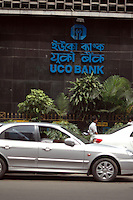 A car waiting in front of UCO BANK main Branch in  Kolkata, West Bengal,  India  7/18/2007.  Arindam Mukherjee/Landov