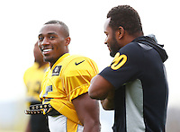 Brandon Boykin #25 of the Pittsburgh Steelers practices at the south side practice facility on November 18, 2015 in Pittsburgh, PA.