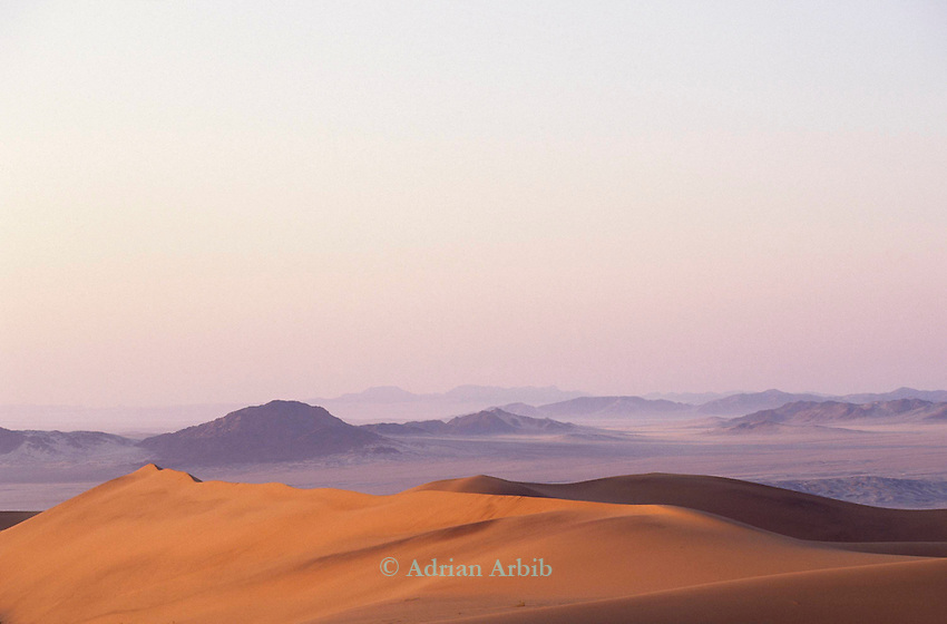Sand and sand dunes in the Namib Naukluft desert.  Access is restricted due to Diamond mining activity by DeBeers.