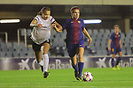 UEFA Women's Champions League 2017/2018.<br /> Round of 16.<br /> FC Barcelona vs Gintra Universitetas: 3-0.<br /> Toriana Patterson vs Mariona Caldentey.