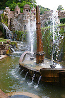 Fountain of Villa d'Este, Tivoli, Italy - Unesco World Heritage Site.
