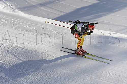 09.12.2011, Hochfilzen, Austria. The IBU Biathlon men's 10km Sprint, picture shows  Simon Simon Schempp ger
