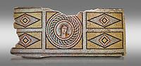 Roman mosaics - Dionysus Portrait Mosaic. Okeanos Villa, Ancient Zeugama, 2nd - 3rd century AD . Zeugma Mosaic Museum, Gaziantep, Turkey.