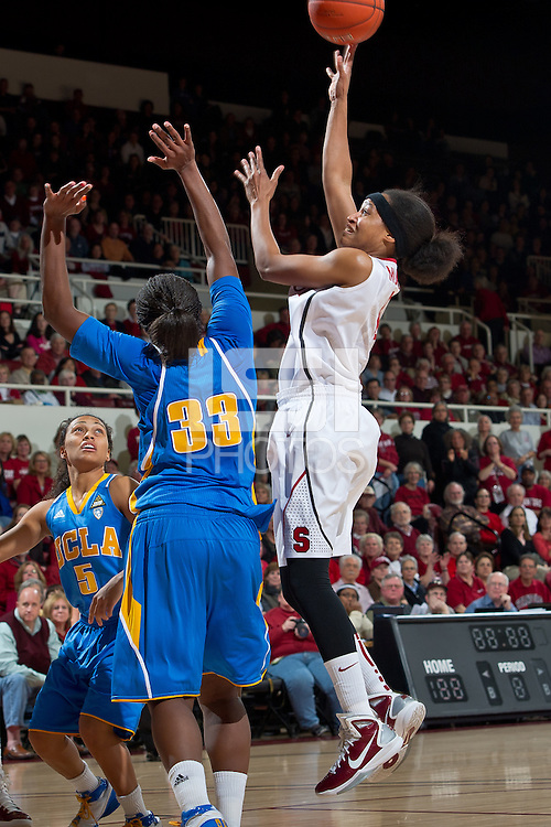 STANFORD, CA - January 20, 2011: Stanford Cardinal's Melanie Murphy during Stanford's 64-38 victory over UCLA at Maples Pavilion in Stanford, California.