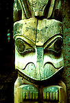 AK: Alaska Sitka National Historic Park, totem pole    .Photo Copyright: Lee Foster, lee@fostertravel.com, www.fostertravel.com, (510) 549-2202.Image: aksitk209.