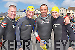 READY TO GO: Sean Kenny, Terence Dineen, Kevin O'Sullivan and Anthony Kenny ready to go at the Kerryhead Triathlon at Ballyheigue on Sunday.