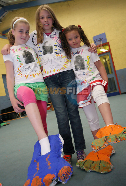 Ivanah Kierans, Chloe Winters and Ruby Matthews at the Krafty Kidz Summer Camp in St Josephs CBS Primary...Photo NEWSFILE/Jenny Matthews.(Photo credit should read Jenny Matthews/NEWSFILE)....This Picture has been sent you under the condtions enclosed by:.Newsfile Ltd..The Studio,.Millmount Abbey,.Drogheda,.Co Meath..Ireland..Tel: +353(0)41-9871240.Fax: +353(0)41-9871260.GSM: +353(0)86-2500958.email: pictures@newsfile.ie.www.newsfile.ie.FTP: 193.120.102.198.