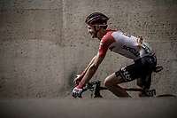 Tim Wellens (BEL/Lotto Soudal) pre race. <br /> <br /> Binckbank Tour 2018 (UCI World Tour)<br /> Stage 6: Riemst (BE) - Sittard-Geleen (NL) 182,2km