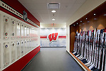 Wisconsin Badgers entrance to the men's hockey locker room on move-in day at the LaBahn Arena Monday, October 1, 2012 in Madison, Wisc. (Photo by David Stluka)