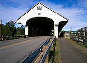 Smith Covered Bridge in Plymouth, New Hampshire USA. This bridge crosses the Baker River.